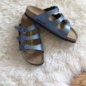 NEW Birkenstock Florida Ice Pearl Onyx Sandals